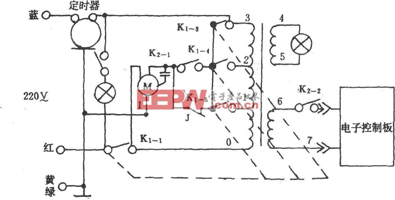 電風扇控制電路(長城FS7-40)