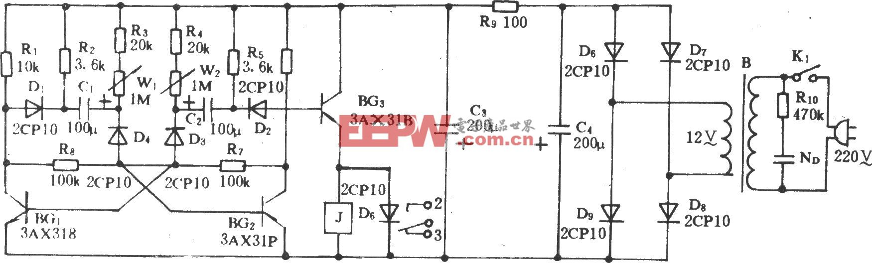 电风扇模拟自然风控制电路(一)