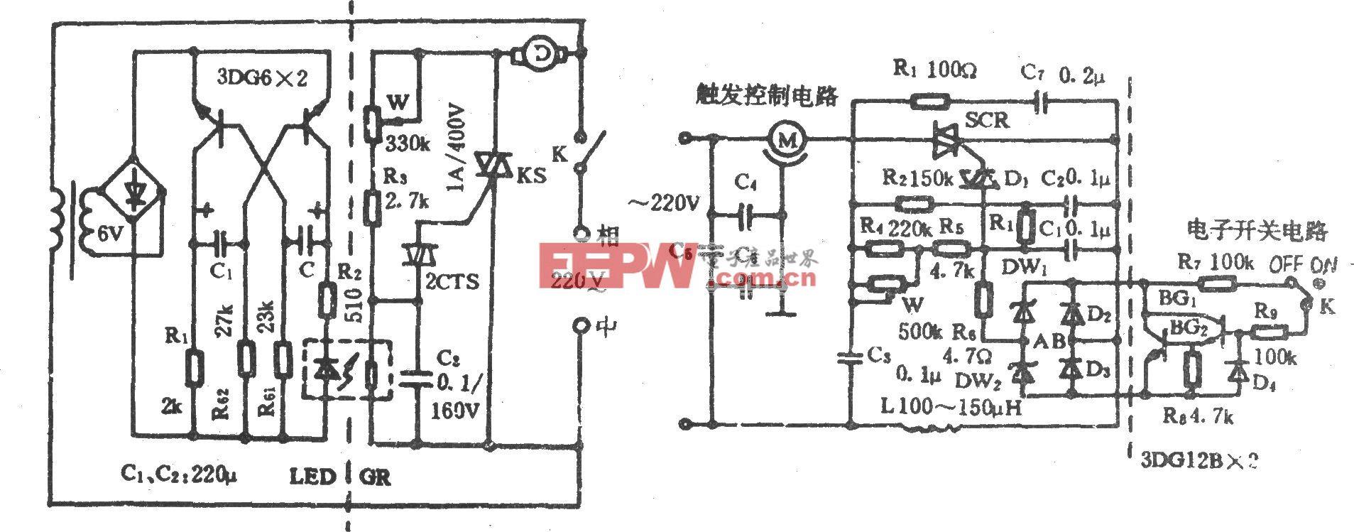 电风扇模拟阵风控制电路