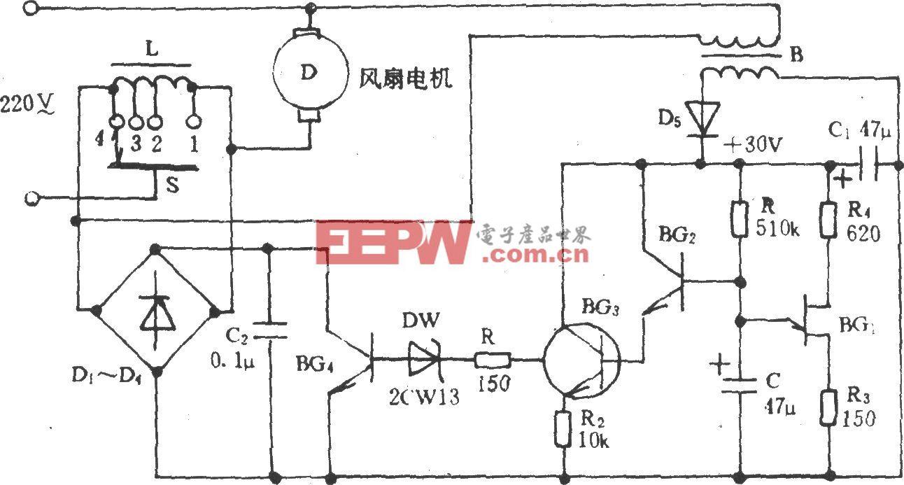 电风扇模拟自然风电路(十七)