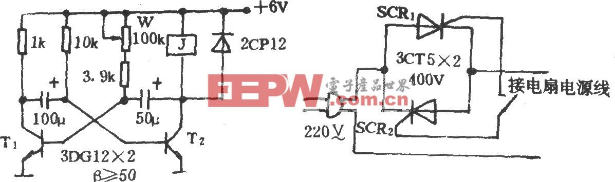 电风扇模拟自然风电路(十八)