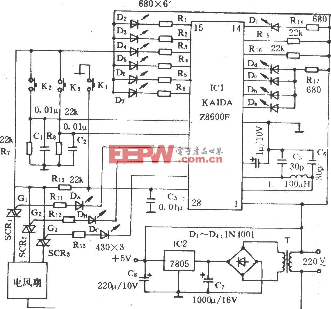 电风扇程控电路(KDF1)