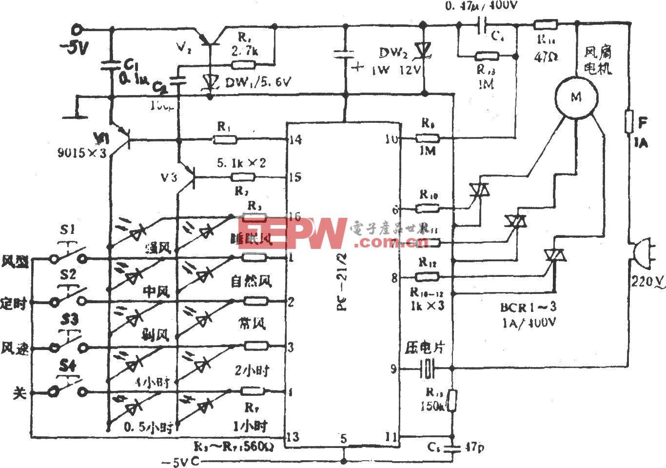 电风扇程控电路(PC-2122)