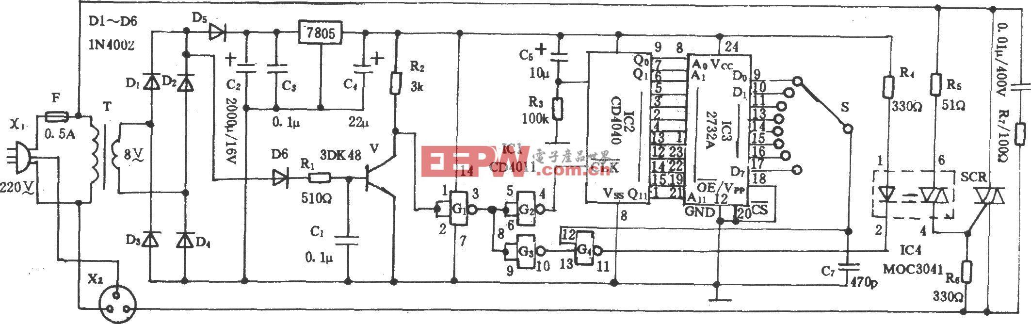 电风扇程控电路(2732A)
