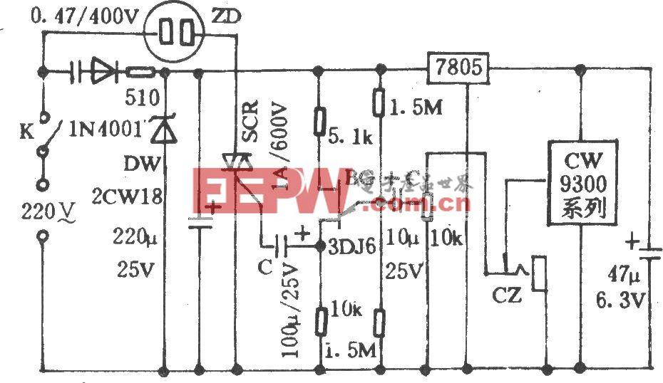 音乐控制电风扇转速电路(一)