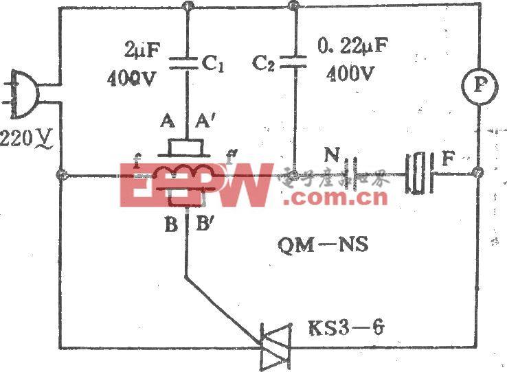 换气扇简易气控电路