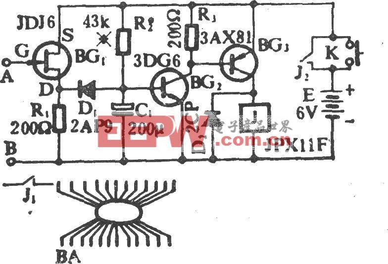 电子表控制电风扇电路