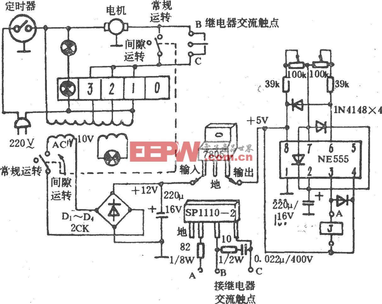 电风扇电子选时电路(长城FS7-40)