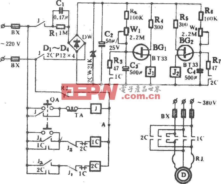 換氣扇定時控制電路