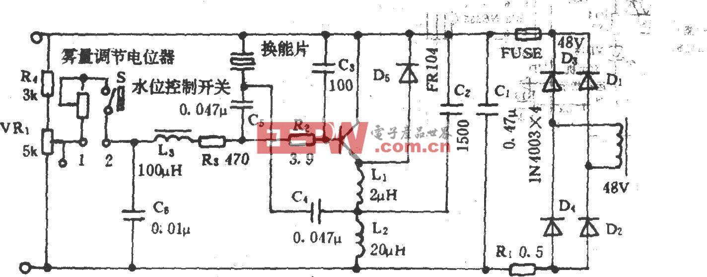 亚都牌D201型超声波加湿器