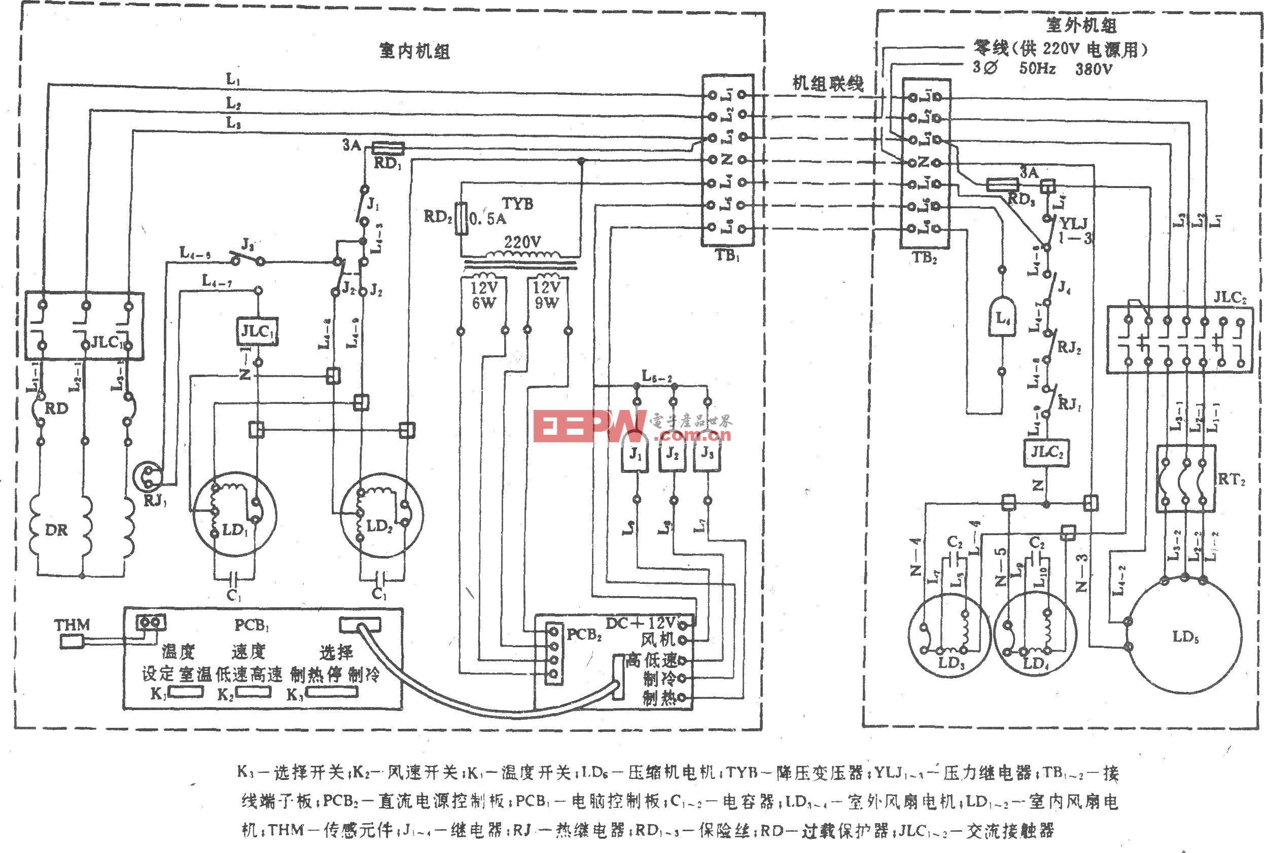 空调外机管路结构图解