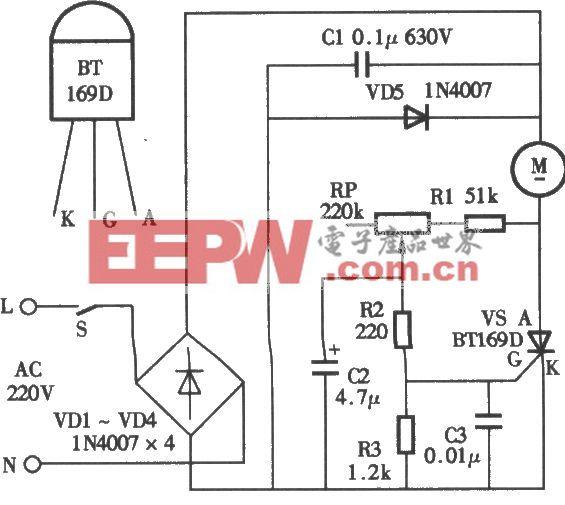 三和松石牌15W振动式按摩棒电路