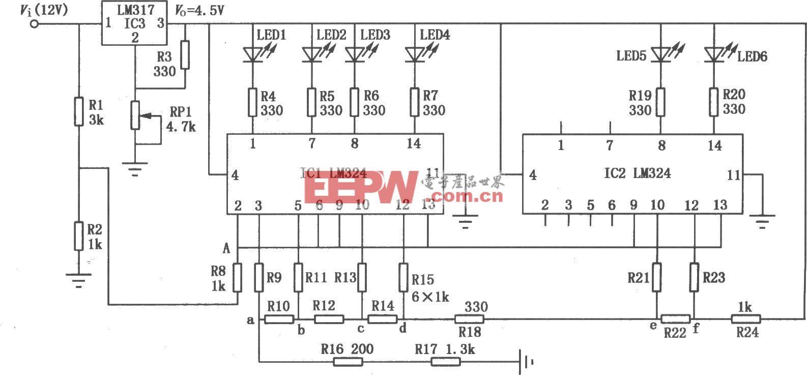 LED显示电子电压表