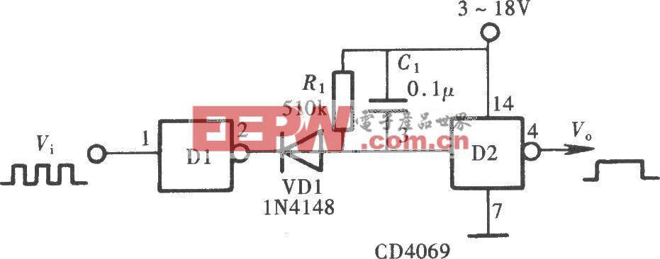 用门电路组成的脉冲解调器