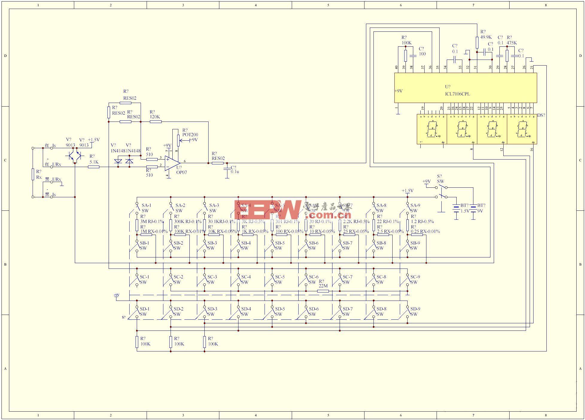 可以用来测μΩ电阻的电路