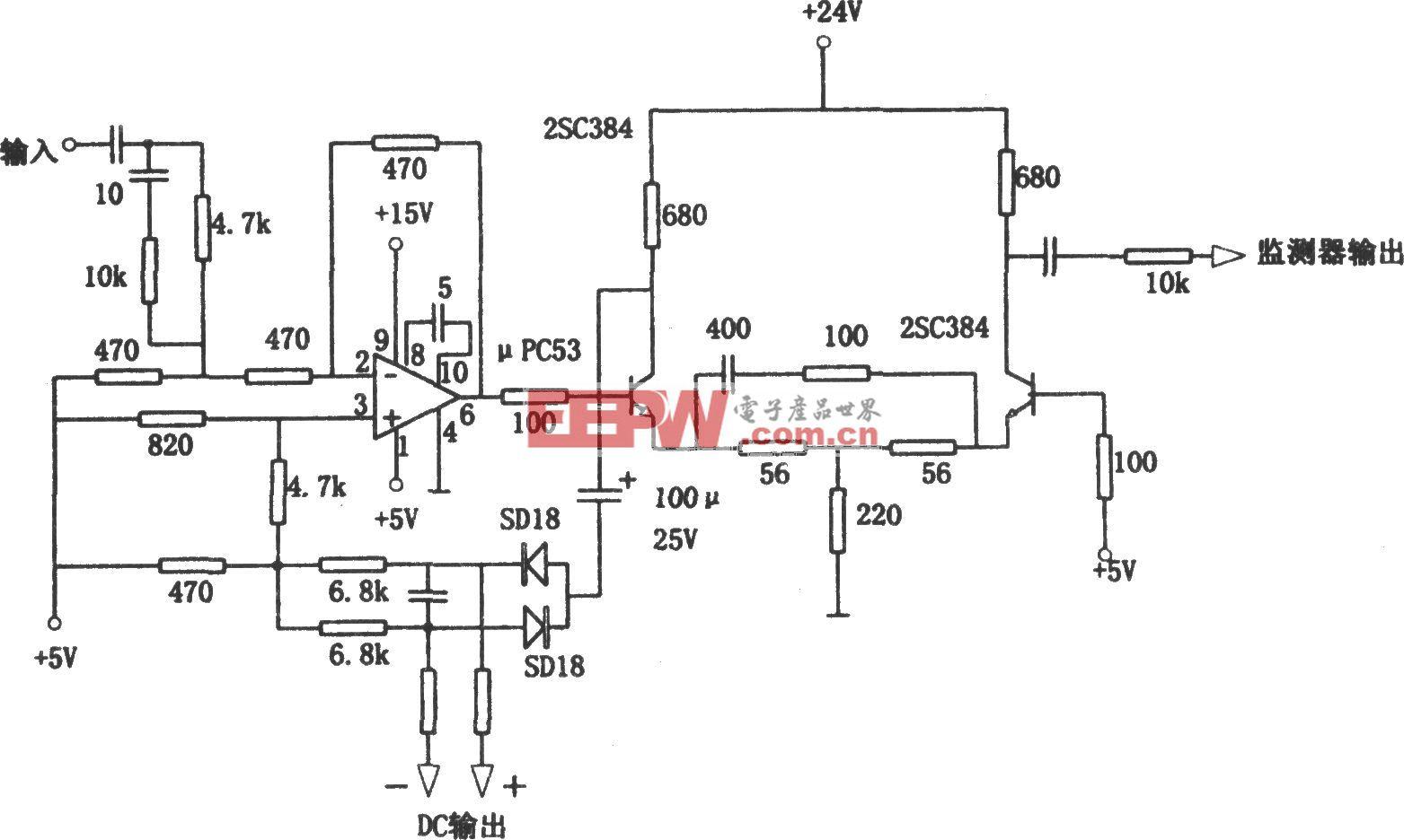带宽为10MHz的宽频带线性检波电路