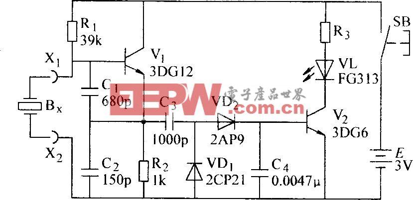 石英晶体振荡器测试电路