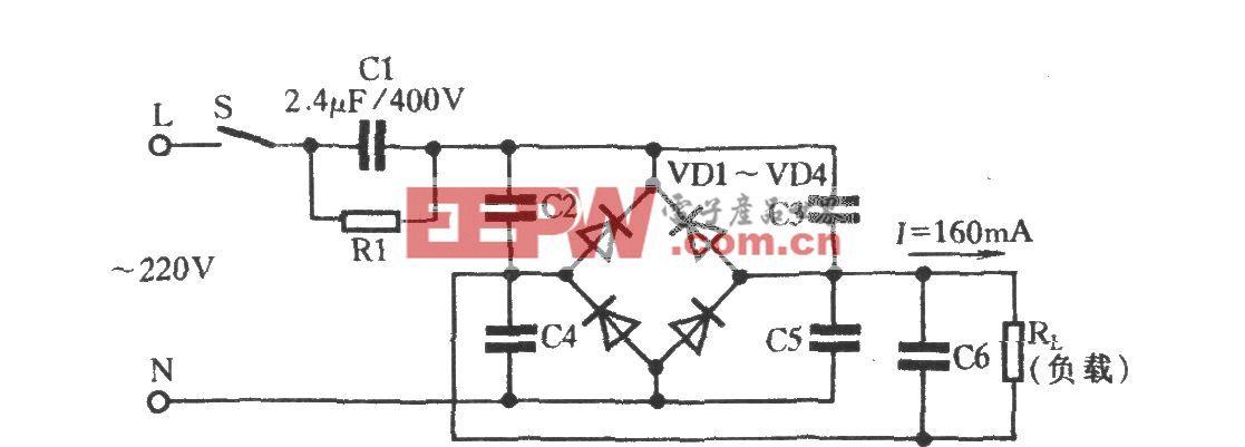 电容器巧作变压器电路