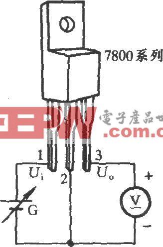 三端稳压集成电路工作性能测试电路