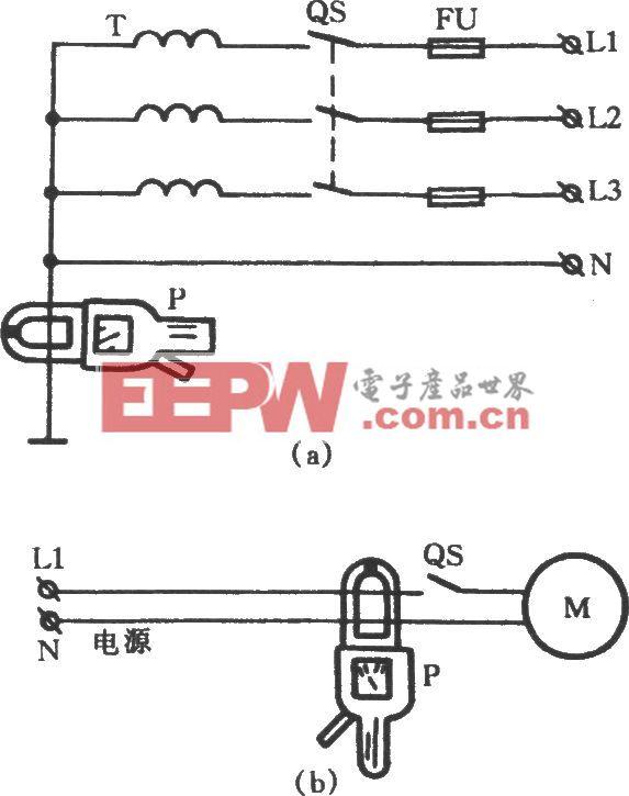 用钳形电流表判定漏电接地故障点