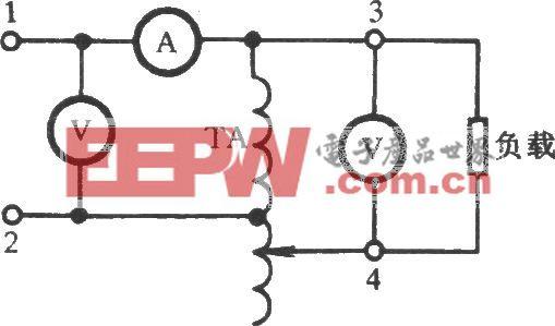 调压器电压及带负载试验电路