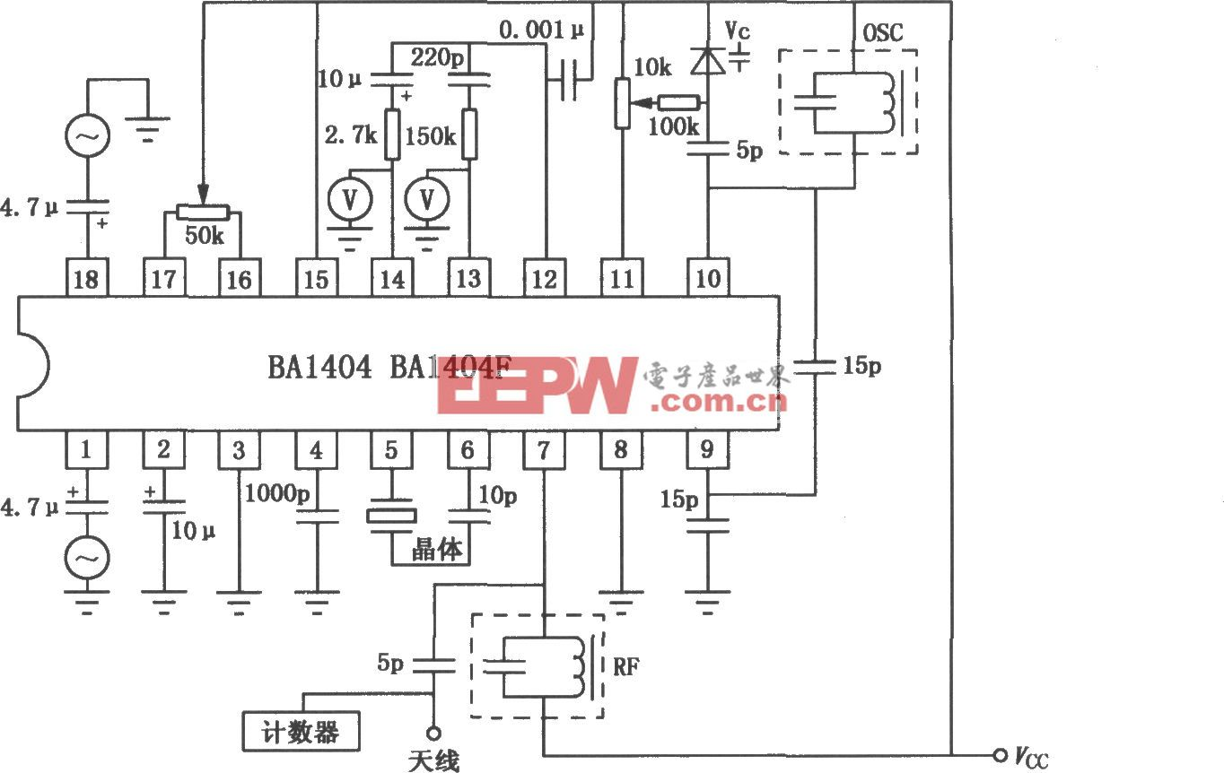 BA1404/1404F FM立体声发射机电路