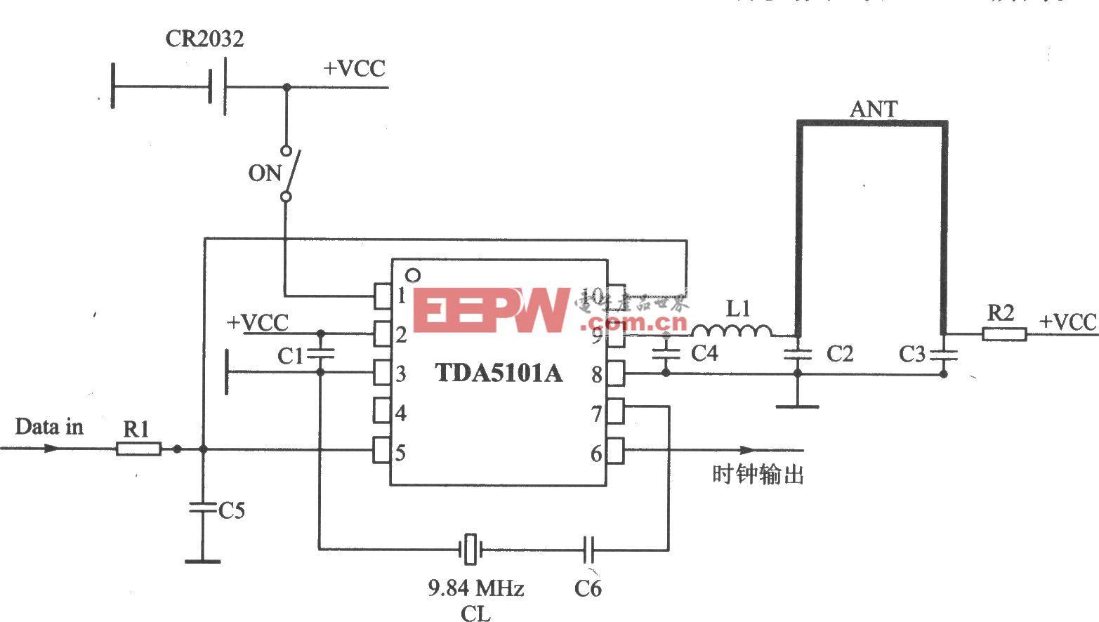 TDA5101A ASK 315 MHz发射器