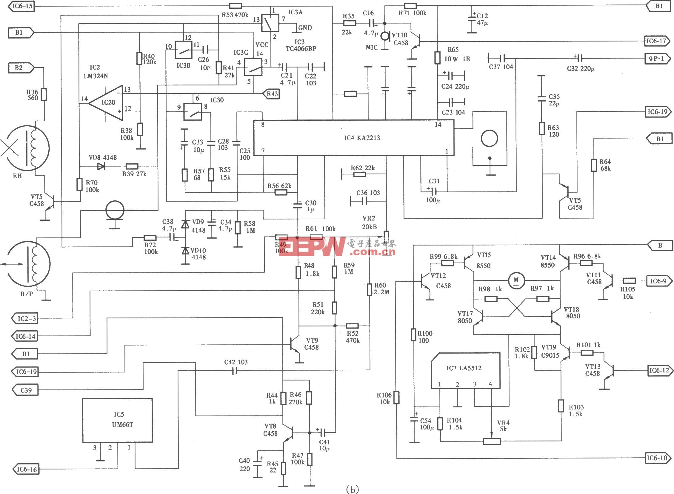 Technical028型電話答錄機電路(b)