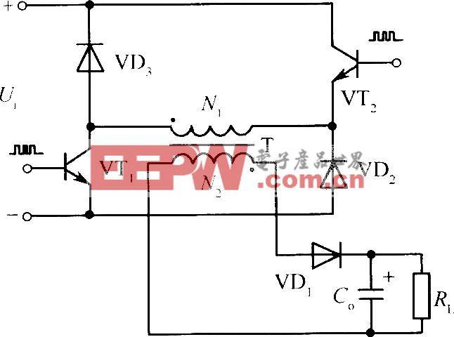 两组晶体管、二极管钳位的反激式开关电源