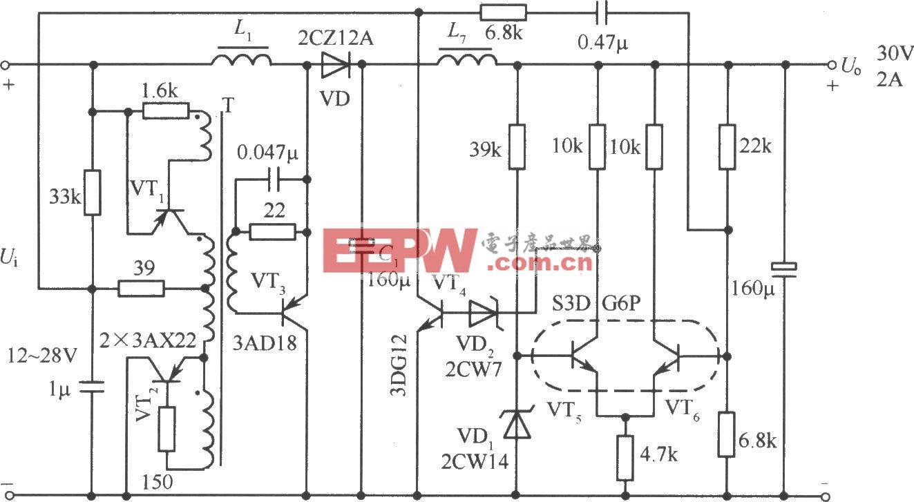 升压输出式实用电路