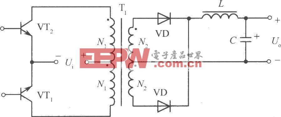 推挽式变换电路开关稳压电源原理图