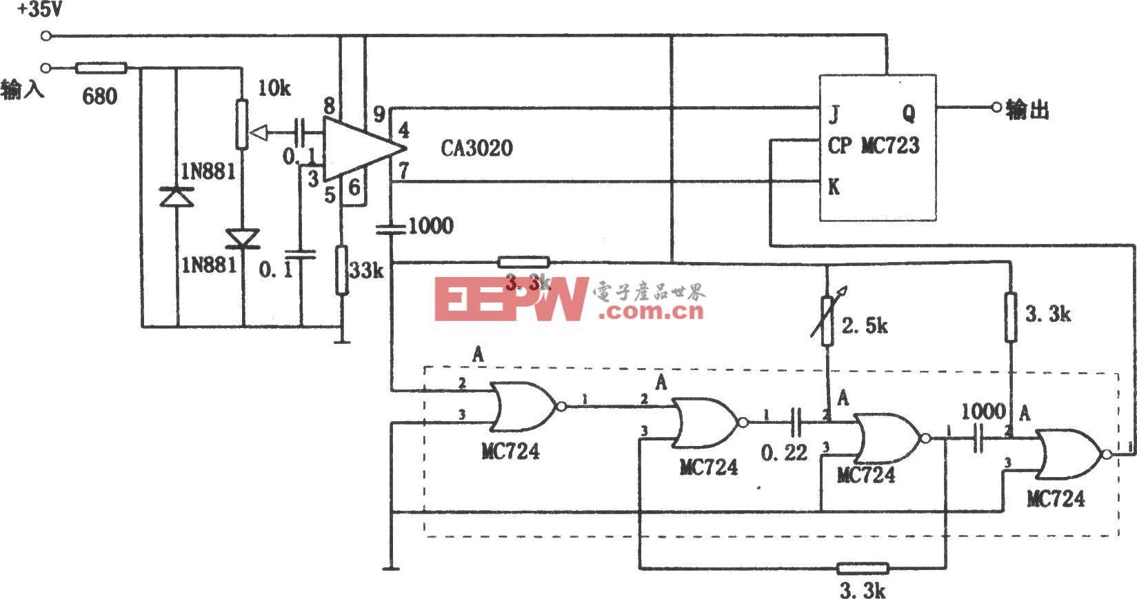 数字式频移解调器(CA3020、MC723、MC724)