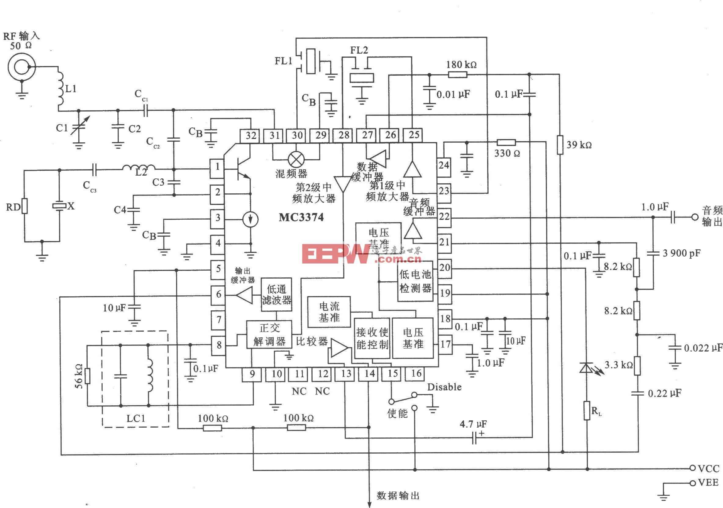 Mc3374/d fm/fsk 75 mhz低功耗接收器 [收藏]