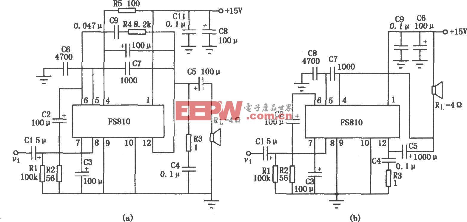 FS810集成功率放大电路