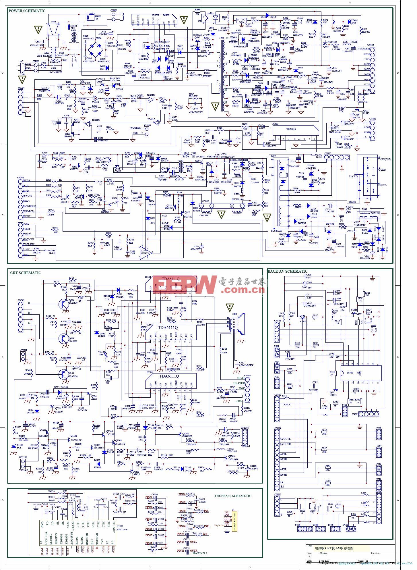 创维5D20机芯电源板电路
