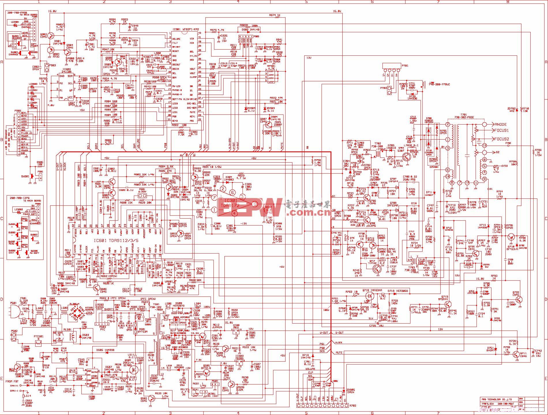 770FS显示器图纸