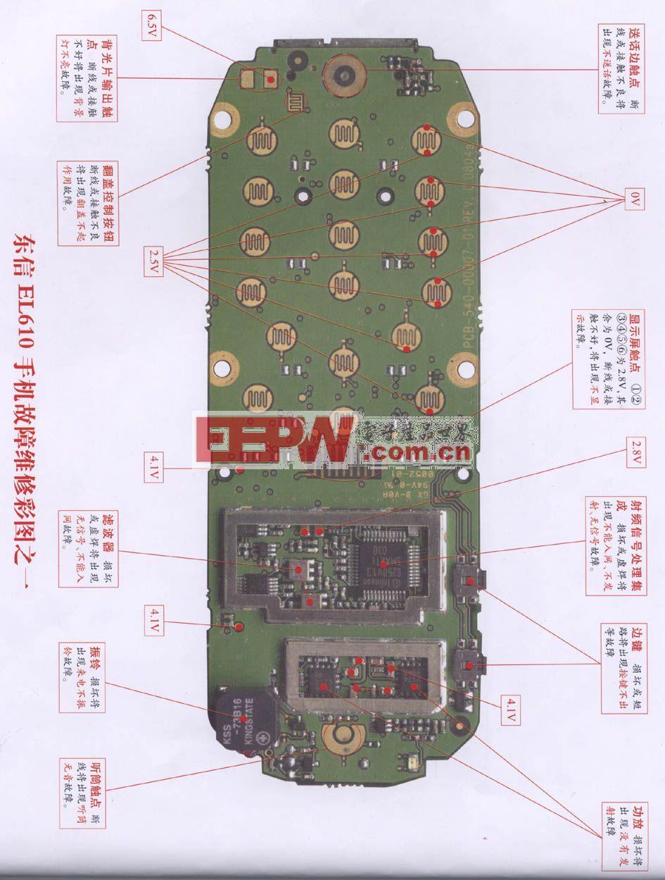 东信EL610手机维修 图一