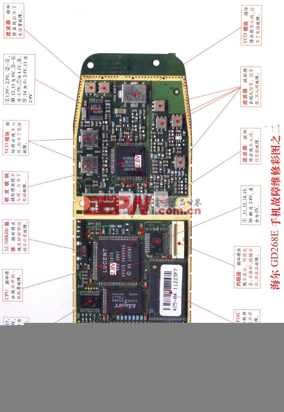 海尔GD268E手机维修 图二