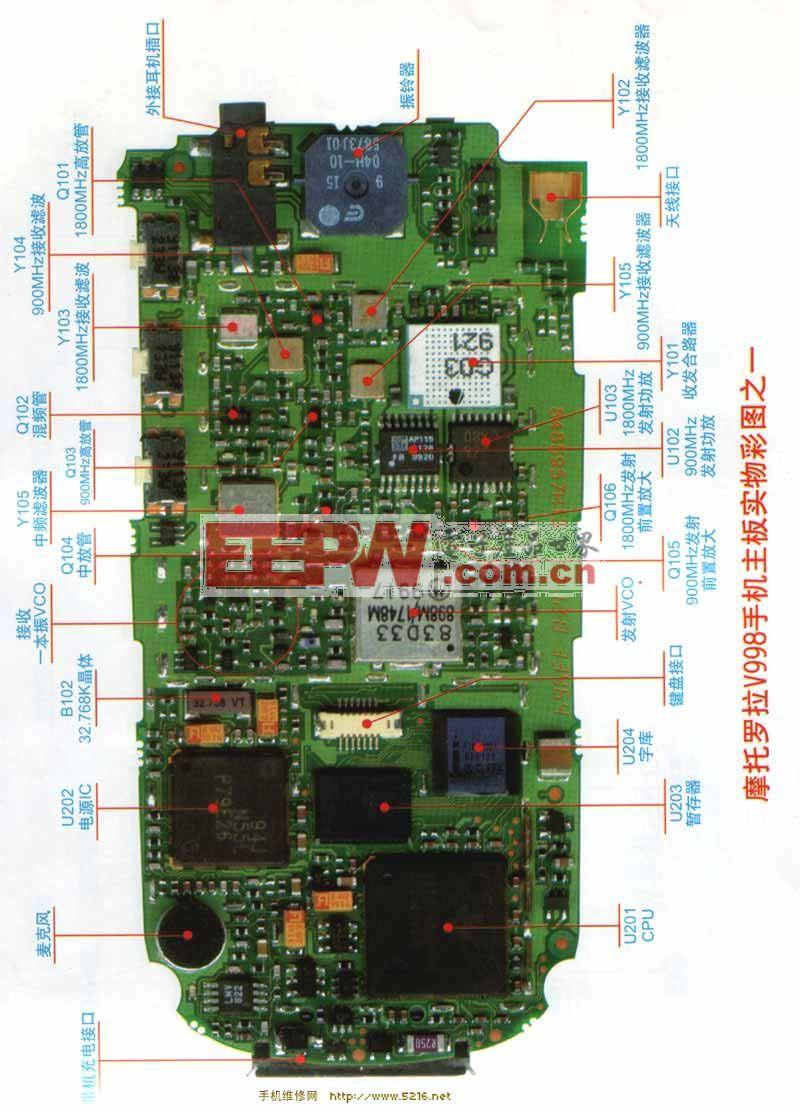 摩托罗拉V998维修电路图1