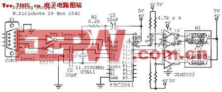AT89C2051驱动步进电机的电路和源码