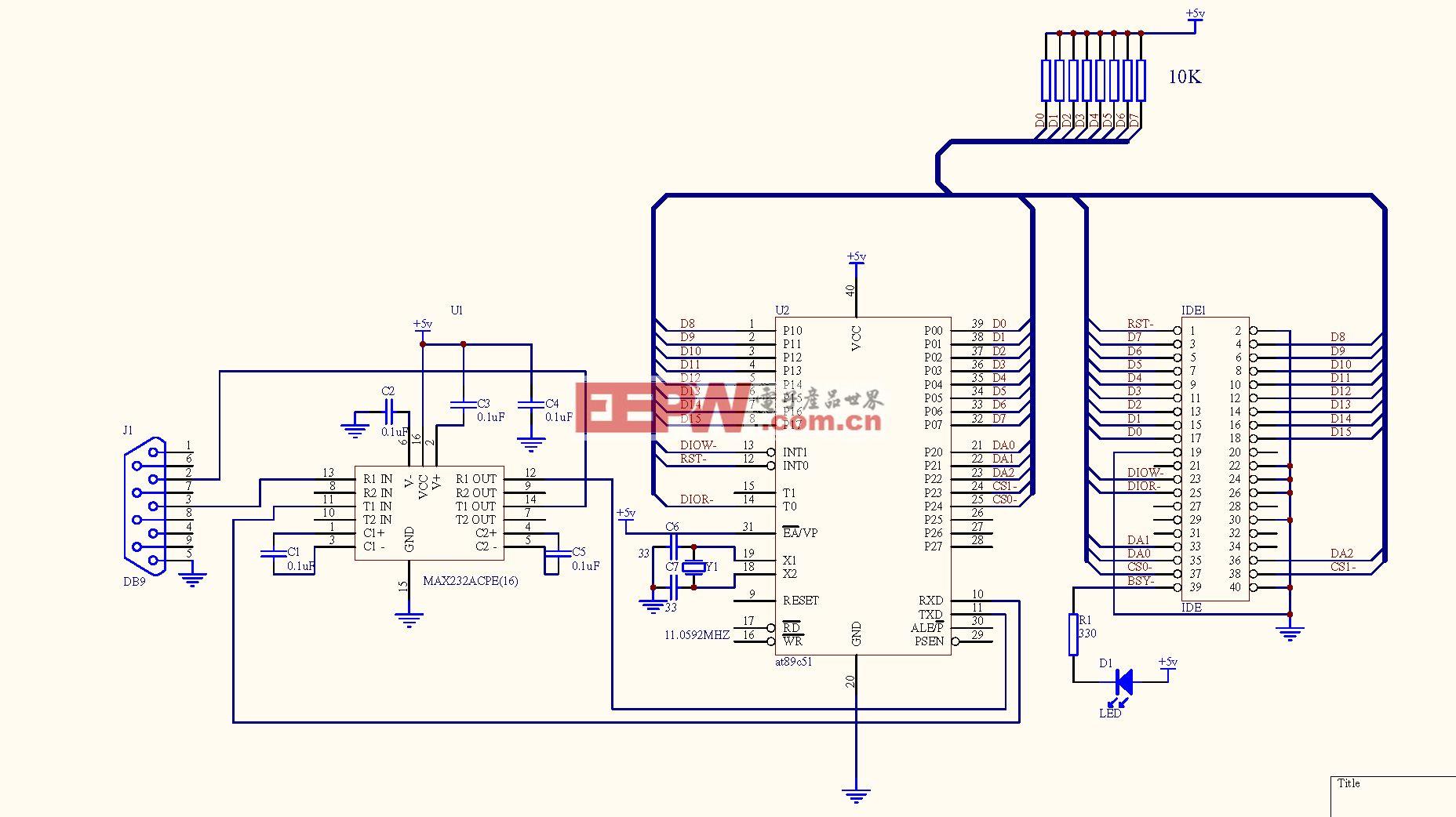 硬盘控制电路以及原程序