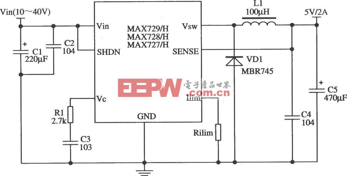 MAX727/MAX728/MAX729的多功能應用電路