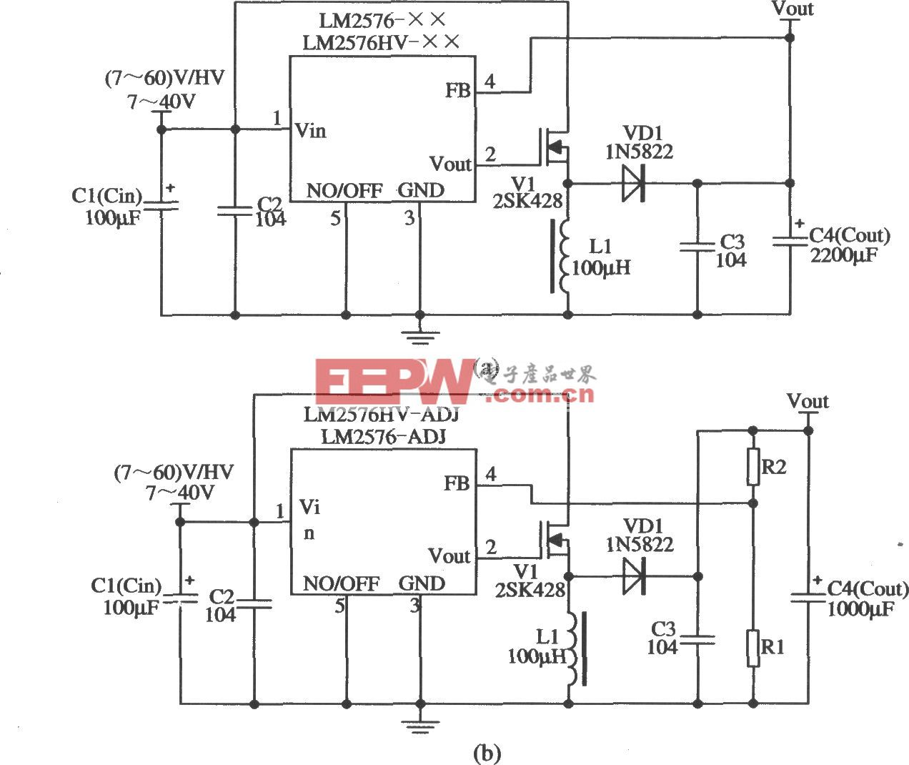 LM2576构成的升压型扩流的应用电路