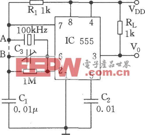 555组成晶振电路