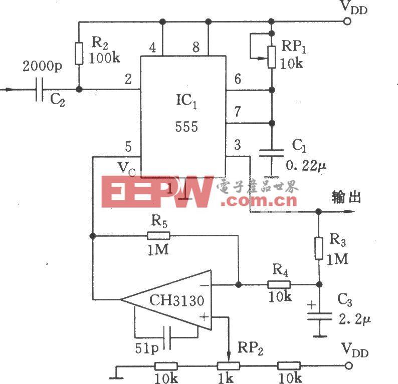 宽度可变的单稳态电路