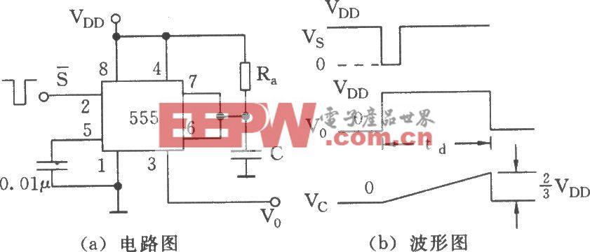 555组成的单稳态触发器
