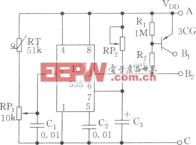 温度控制的可控硅过零开关电路
