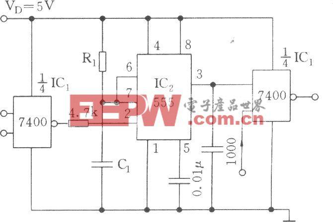 TTL接口和单稳触发器电路
