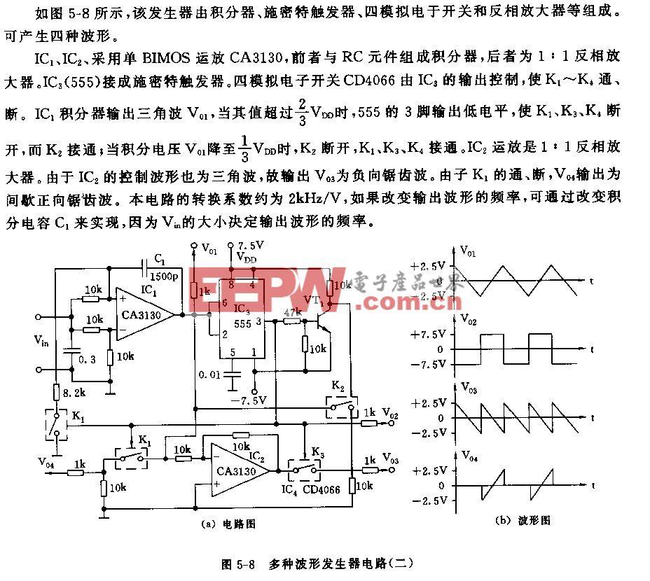 555多种波形发生器电路(二)