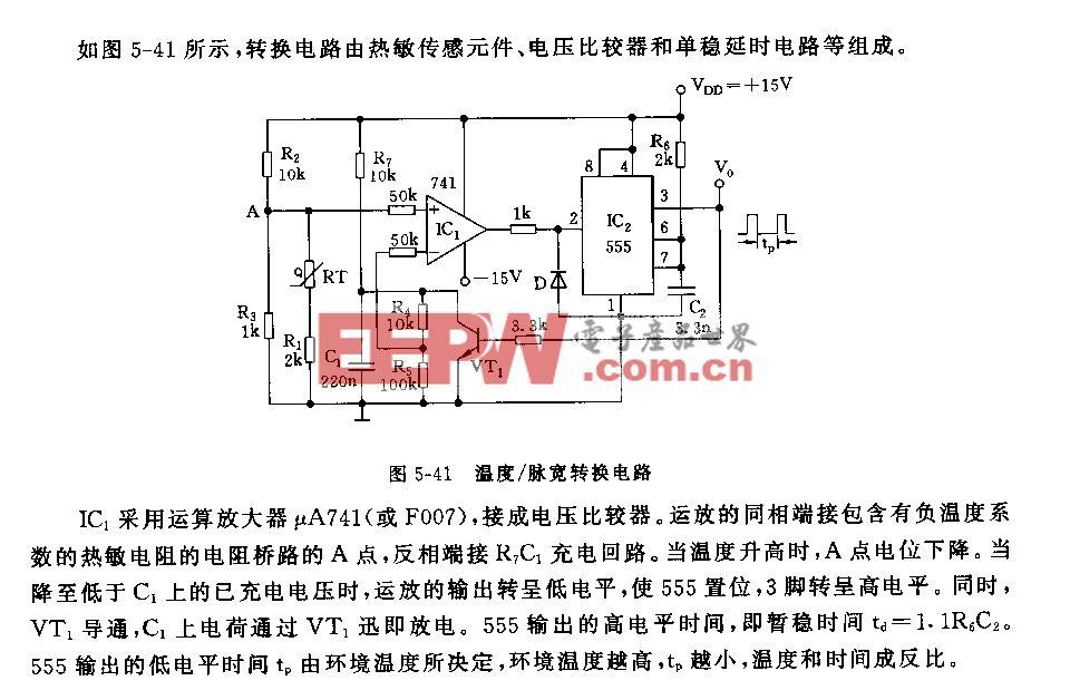 555温度/脉宽转换电路